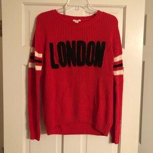 London Graphic Sweater